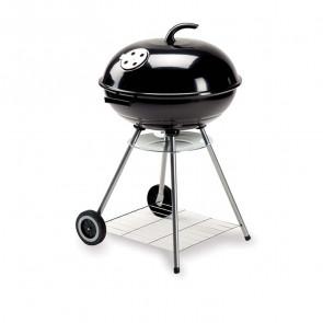 Barbecue Spiedo 56 cm in acciaio con ruote per campeggio giardino carbonella legna