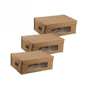 Set 3 scatole per armadio 48x36 Beige