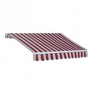 Tenda da sole a bracci riga rossa 300x200