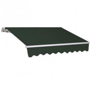 Tenda da sole a bracci verde unito 250x200