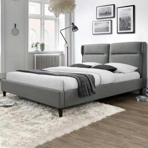 Letto Gabbiano 160 tessuto grigio moderno