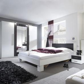 Camera completa Lisa Gihome ® bianco e noce nero con letto oversize