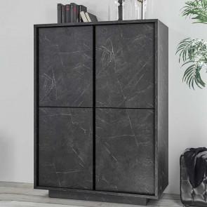 Contenitore 4 ante Carrara marmo nero