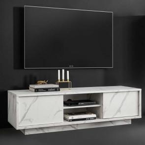 Porta tv Carrara marmo bianco