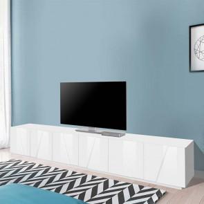 Mobile porta TV Samos Gihome ® 6 ante bianco lucido