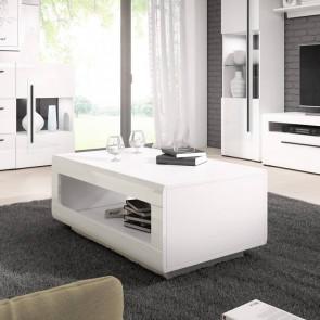 Tavolino Maiorca bianco bianco lucido