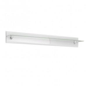 Mensola Gordon 170 bianco lucido vetro