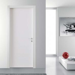 Porta interna Luisa a battente 80 x 210 bianco laccato