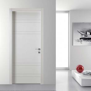 Porta interna Sara a battente 80 x 210 bianco laccato