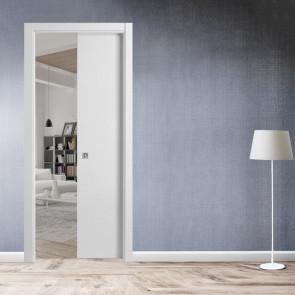 Porta interna Giulia scorrevole scomparsa 80 x 210 bianco