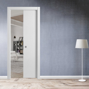 Porta interna Giulia scorrevole scomparsa 70 x 210 bianco