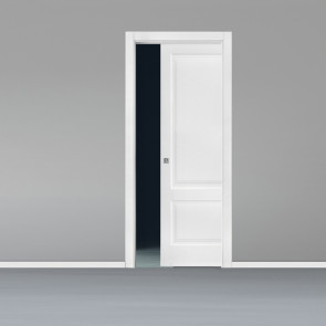 Porta interna King scorrevole scomparsa 80 x 210 bianco laccato
