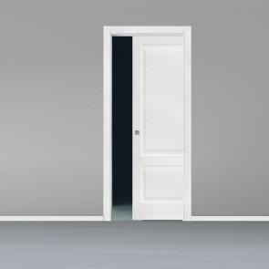 Porta interna King scorrevole scomparsa 70 x 210 bianco laccato