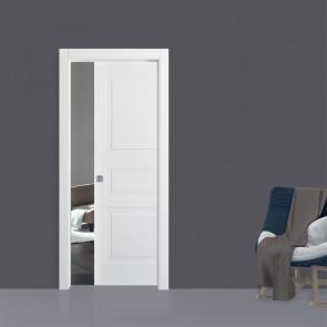Porta interna Maica scorrevole scomparsa 80 x 210 bianco laccato