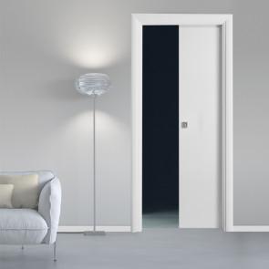 Porta interna Greta scorrevole scomparsa 70 x 210 bianco