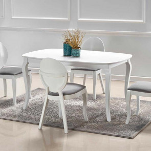 Tavolo allungabile Tayma 150-190 legno bianco classico