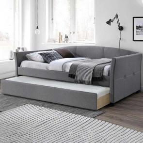 Letto estraibile Duple tessuto grigio moderno