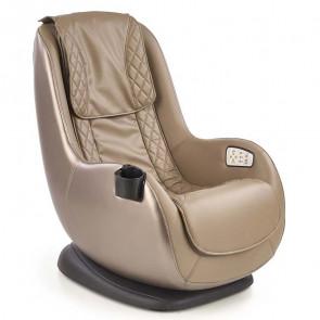 Poltrona relax Wolbi massaggiante in ecopelle beige