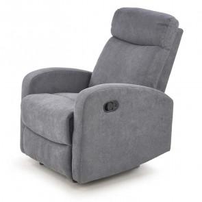 Poltrona reclinabile Denar in tessuto grigio