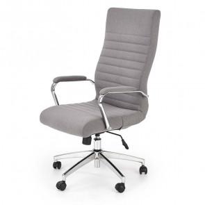 Poltrona ufficio Soler tessuto grigio cromata moderna
