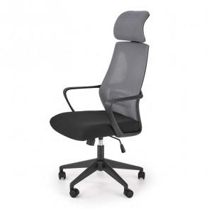 Sedia da ufficio Clay tessuto rete grigio nero