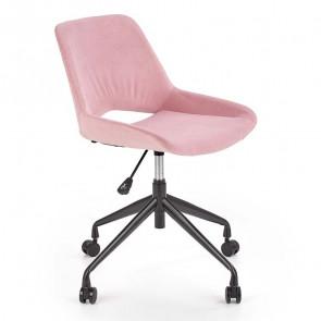 Sedia per scrivania ragazzi Lea tessuto rosa design moderno