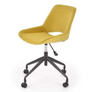 Sedia per scrivania ragazzi Lea tessuto senape design moderno