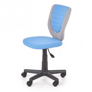 Sedia per scrivania ragazzi Dorian tessuto bicolore grigio azzurro