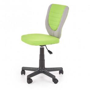 Sedia per scrivania ragazzi Dorian tessuto bicolore grigio verde