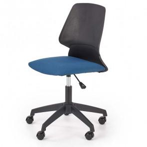 Sedia per scrivania ragazzi Liz tessuto blu nero moderna