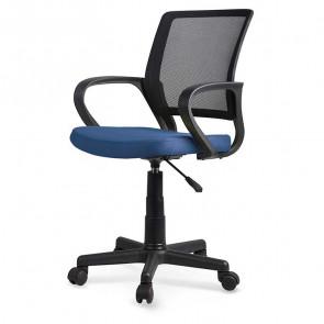 Sedia per scrivania ragazzi Amachi tessuto blu nero