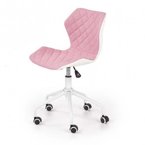 Sedia per scrivania ragazzi Bilbao tessuto ecopelle rosa bianco
