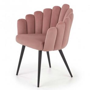 Sedia imbottita Alessia in velluto rosa design