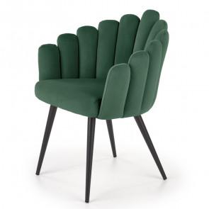 Sedia imbottita Alessia in velluto verde design