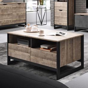 Tavolino soggiorno Sandy quercia scura ossido