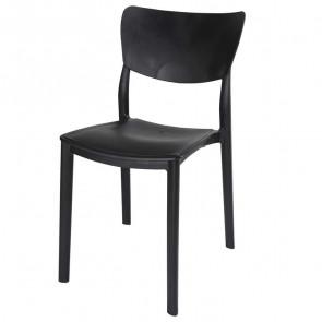 Sedia plastica Tania nera