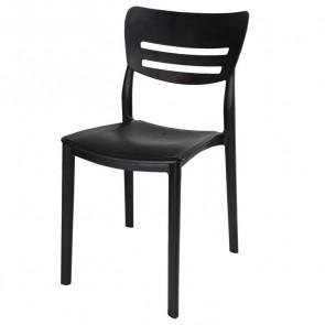 Sedia plastica Greta nera