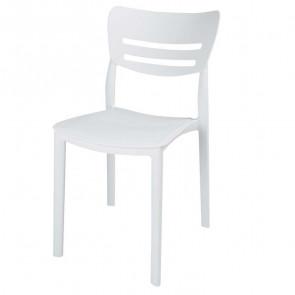 Sedia plastica Greta bianca